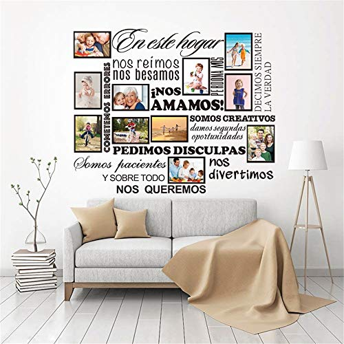 (Wall Decal Sticker Mural Vinyl Arts and Sayings Mural Art Family Album Stickers House Rules Living Room Home Decor )