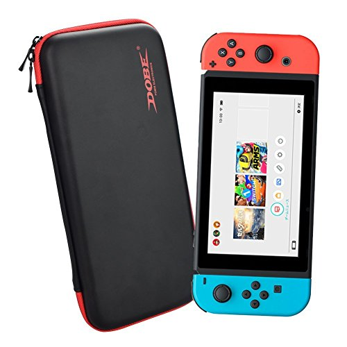 EVA Hard Case Storage Bag for Nintendo Switch - i.VALUX TNS-858 NX NS Console, Zipper Case [Red - Full Movie Glue
