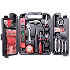CARTMAN 136-Piece Tool Set – General Household Hand Tool Kit with Plastic Toolbox Storage Case