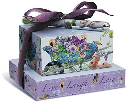 - Lissom Design Stacking Paper Block Set, Pansy Garden