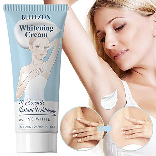 Skin Lightening Cream, Underarm Whitening&Brightening Cream Effective for Armpit, Bikini, Elbow, Private and Sensitive Areas(60ml)
