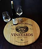 'Estate' Personalized Barrel Head Lazy Susan (B518)