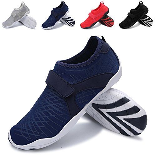 L-RUN Women and Men Walking Sneakers Water Shoes Lightweight Barefoot Navy