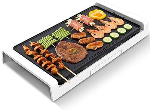 SY-Heat Barbacoa eléctrica sin Humo/BBQ - Máquina de Barbacoa portátil para Interiores, Antiadherente, 1800W