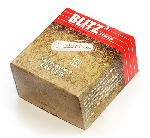 100 pcs BLITZ System Smoking Pipe Charcoal Filters 9mm Made in Switzerland ()