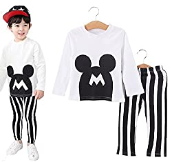 StylesILove Baby Kids Boys Mickey 2-piece Top and Pants (2-3 Years, Yellow)