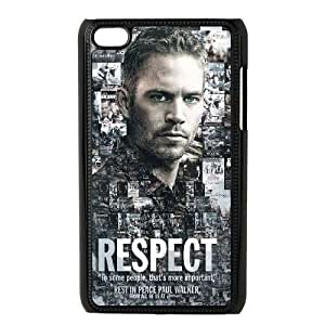 Unique Design Case for iPod touch4 w/ Paul Walker image at Hmh-xase (style 4)
