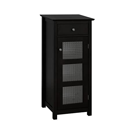 Amazon Chesterfield Floor Cabinet With One Glass Door And One