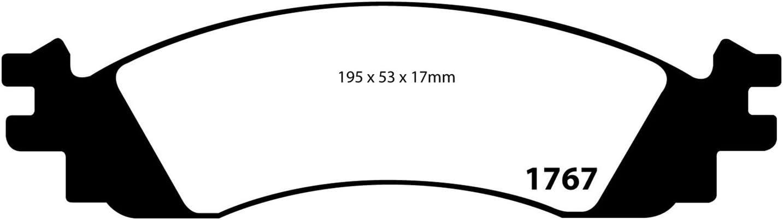Redstuff Ceramic Low Dust Front Brake Pads EBC DP31768C