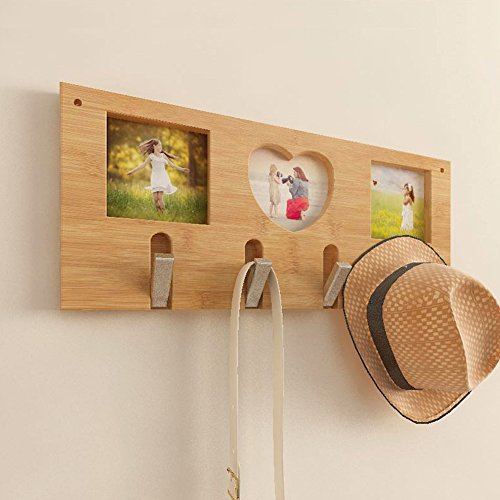 SDFDSVDCGVSGVCGD Wall Coat Rack,Bedroom Wood Hanger Wall Hanger Clothes Rack Living Room Entrance Frame Hook-A by SDFDSVDCGVSGVCGD (Image #1)