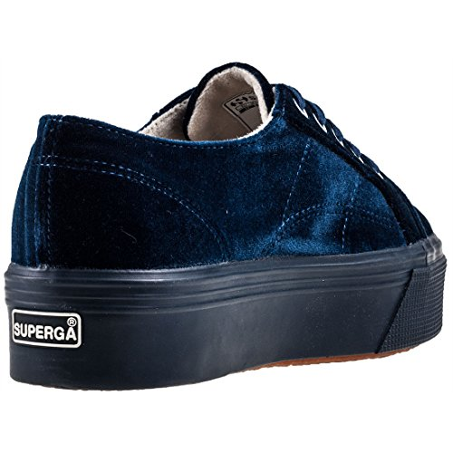 Donna Collo Blue Basso Dark a velvetw Sneaker 2790 Superga wBRHpp