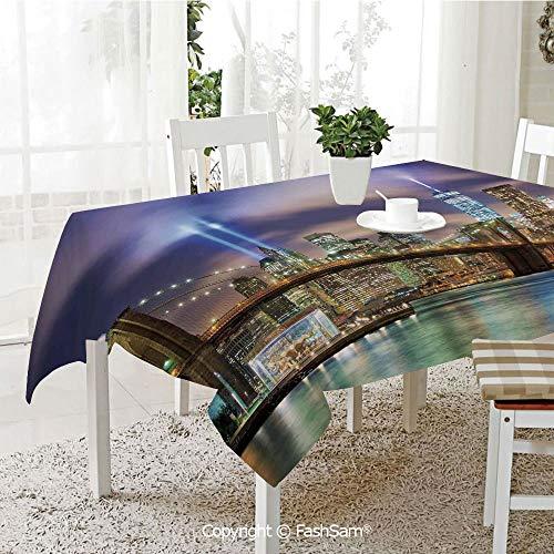 AmaUncle 3D Print Table Cloths Cover Manhattan Skyline