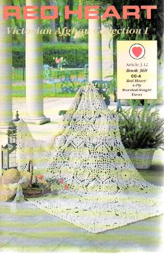 Victorian Afghan Collection I - 4 Crochet Afghan Patterns (Red Heart, Article J.12, Book (Red Heart Crochet Patterns)