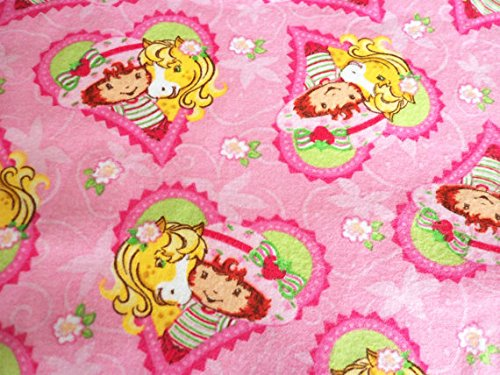 Strawberry Shortcake & Pony Fabric Flannel New By The Fat Quarter BTFQ (Strawberry Ponies Shortcakes Pony)
