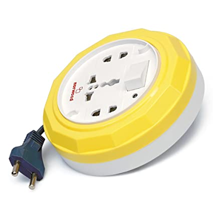 Norwood Aura 2 Pin Flex Box 10 Mtr. (With Indicator & International Socket) (Color May Vary)