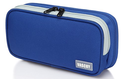 Pencil Case,Vaschy Large Capacity Pen Holder Pouch with Doub