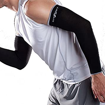 dc035590df CoreSport Athletic Arm Sleeves for Support - 15-20mmHg Mild Graduated  Compression for Athletes (