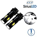 yukon running lights - SiriusLED Extremely Bright 35W 2835 Chipset 21 SMD LED Bulbs with Projector for Car Turn Signals Daytime Running DRL Brake Tail Lights Dual Brightness 3157 3157A 3155 3457 4157 Pure White