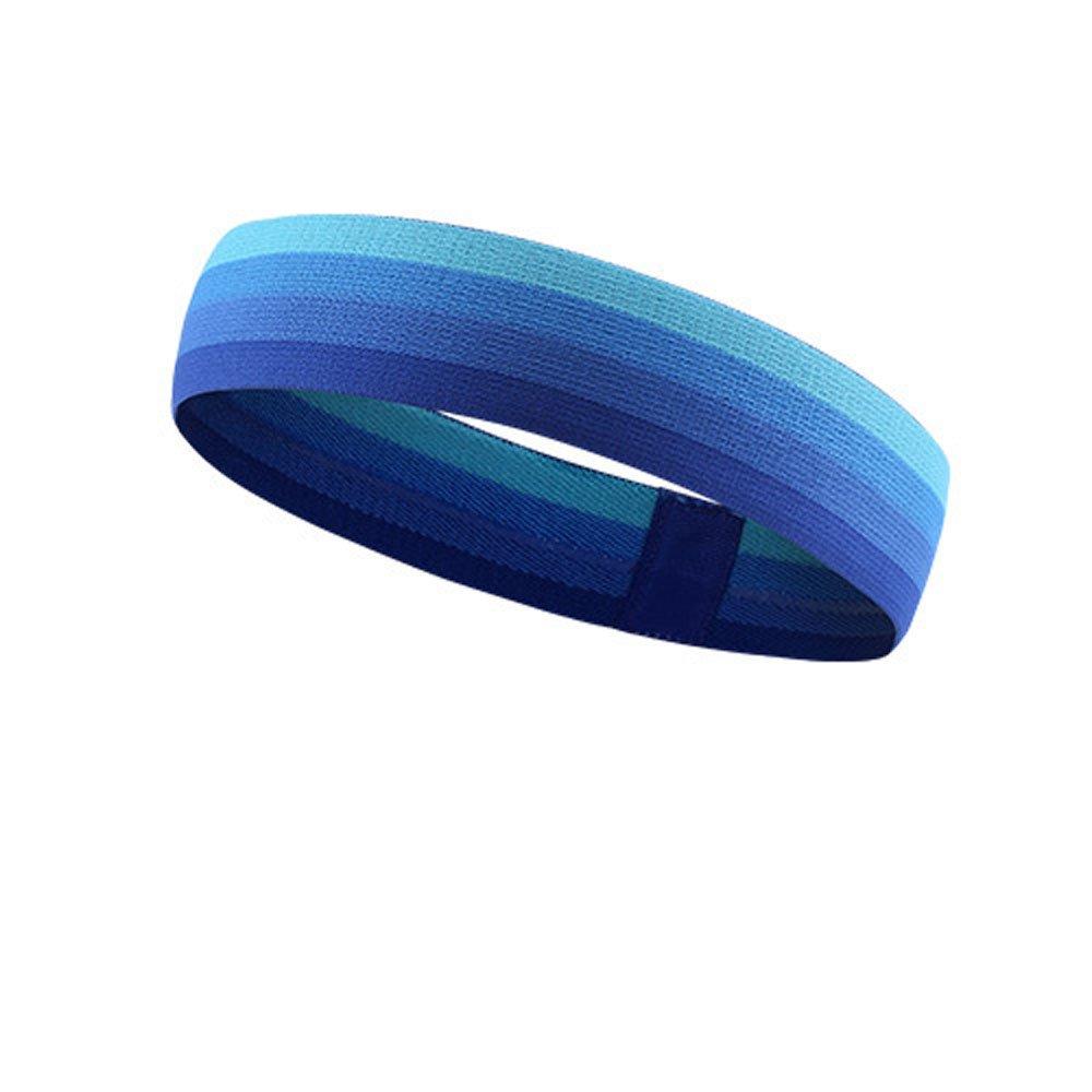 HANERDUN Sport Stirnband dünn Schweißbänder kopf Stirn Kopfband für Laufen Tennis Yoga Fitniss Haarband für Damen und Herren 3SWB-1014_BLUE