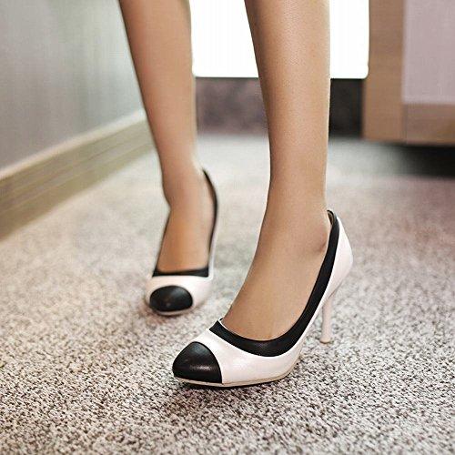 Pumps Shoes Weiß Trichterabsatz Tanzschuhe mehrfarbig Geschlossen modern Mee reizvoll Damen 0nwqWzBTd