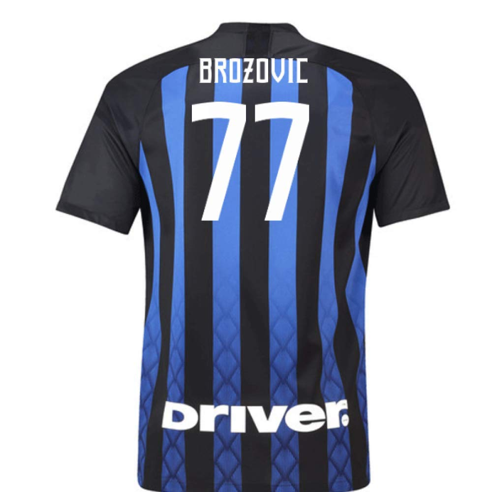 2018-19 Inter Milan Home Football Soccer T-Shirt Trikot (Marcelo Brozovic 77)