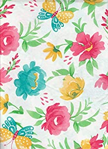 Amazon Com Spring Floral Easter Colorful Flowers Vinyl