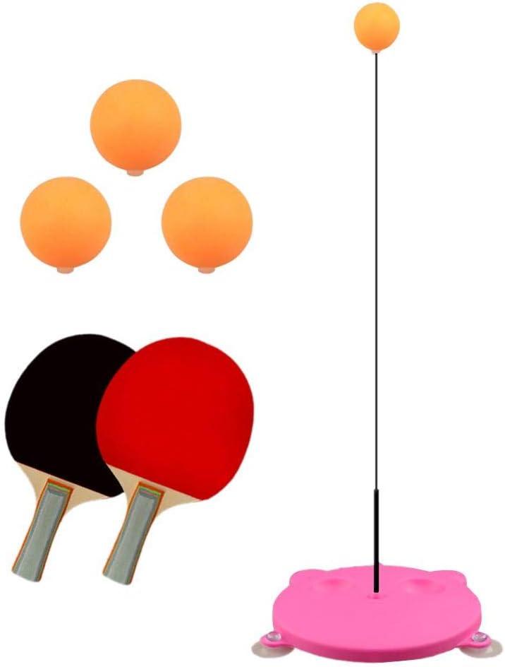 Paradesour - Juego de Tenis de Mesa y Pelota de práctica portátil con Mango elástico, para el hogar y la Oficina