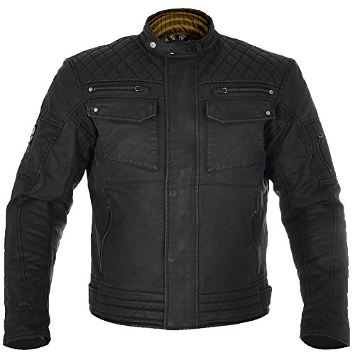 Waxed Cotton Motorcycle Jacket - 6