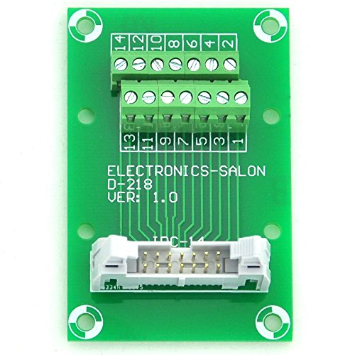 Module Breakout Board Electronics-Salon idc-14 mont/é sur rail DIN Interface Terminal Block.