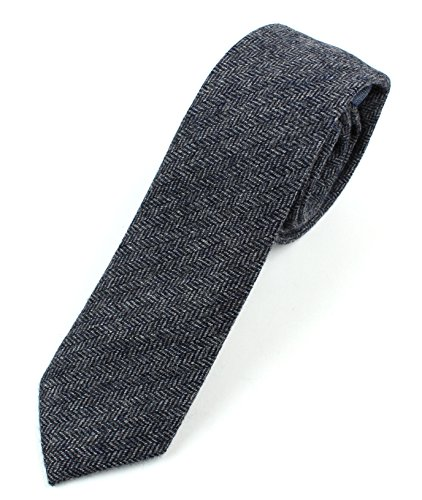 Herringbone Stripe Dress Shirt (Men's Wool Herringbone Skinny Necktie Tie -)