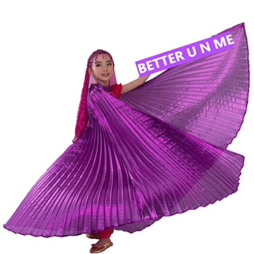 Pilot-trade Children's Egyptian Egypt Isis wings Belly Dance Costume full Isis Wings Purple (Egyptian Costumes For Children)