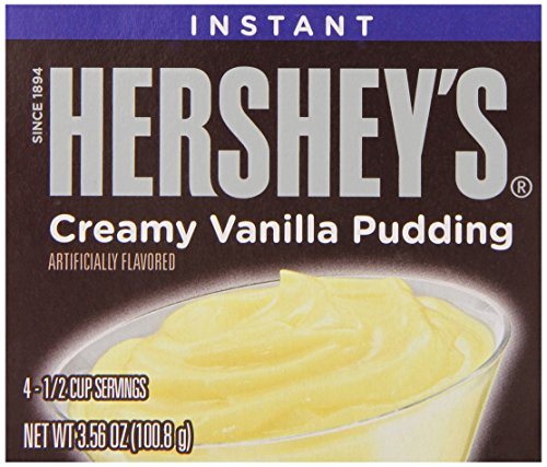 Hershey's Pudding, Vanilla, 3.56 Ounce (Pack of 12)
