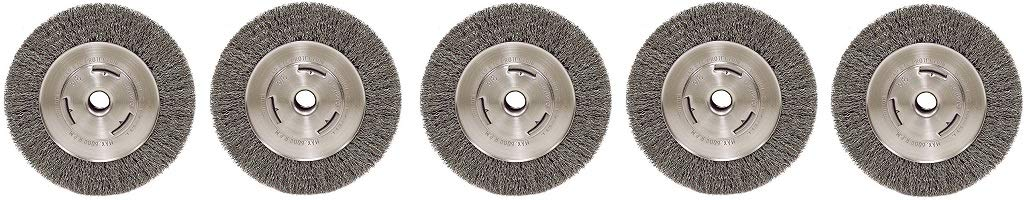 Weiler Trulock Narrow Face Wire Wheel Brush, Threaded Hole, Stainless Steel (2-(Pack))