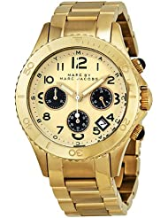 Marc By Marc Jacobs Rock Metal Chronograph Gold Ion-plated Mens Watch MBM3158