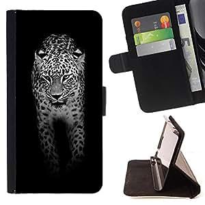 Dragon Case- Mappen-Kasten-Prima caja de la PU billetera de cuero con ranuras para tarjetas, efectivo Compartimiento desmontable y correa para la mu?eca FOR Samsung Galaxy S3 MINI I8190- leopard