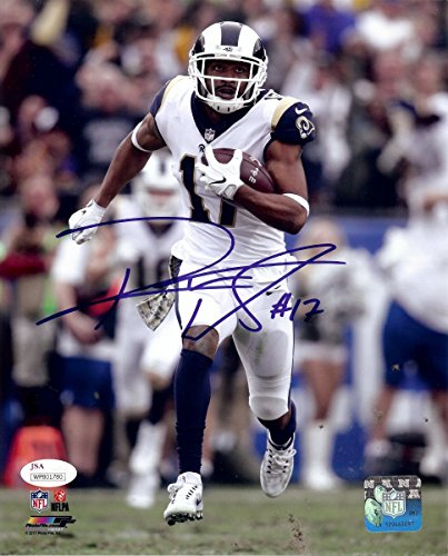 Signed Robert Woods - Robert Woods Signed Autographed 8X10 Photo LA Rams Running w/Ball JSA COA