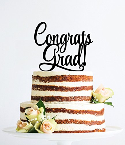 [USA-SALES] Graduation Cake Topper, Congrats Grad Cake Topper, Graduation Party, Grad Decoration, by USA-SALES Seller