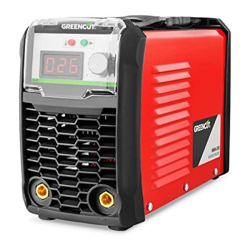 chollos oferta descuentos barato GREENCUT MMA200 Soldador inverter turbo ventilado de corriente continua DC 200A Potencia Regulable con Tecnología iGBT Máquina de Soldadora Portátil