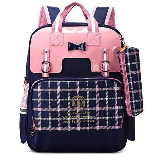 British Style Girls Backpacks for School Princess Bowknot Kids Bookbags