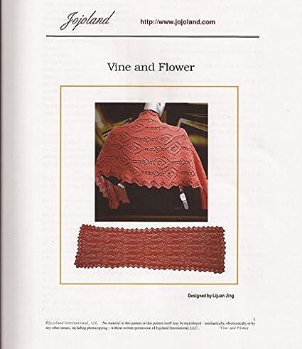 Amazon Jojoland Knitting Pattern Vine And Flower Lace Wrap