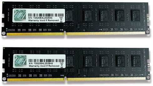 G.Skill 8GB 2x4GB DDR3 PC3-12800 1600MHz Desktop Memory Model F3-1600C11D-8GNT
