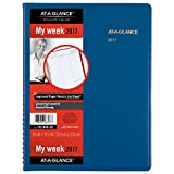 "AT-A-GLANCE Weekly Appointment Book / Planner 2017, 8-1/4 x 10-7/8"", Fashion Color, Blue (70-940-20)"