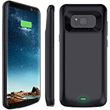Galaxy S8 Plus Battery Case, Stoon 5500mAh Portable Charger Case Rechargeable Extended Battery Pack Protective Backup Charging Case Cover for Samsung Galaxy S8 Plus(6.2 Inch) (Black)