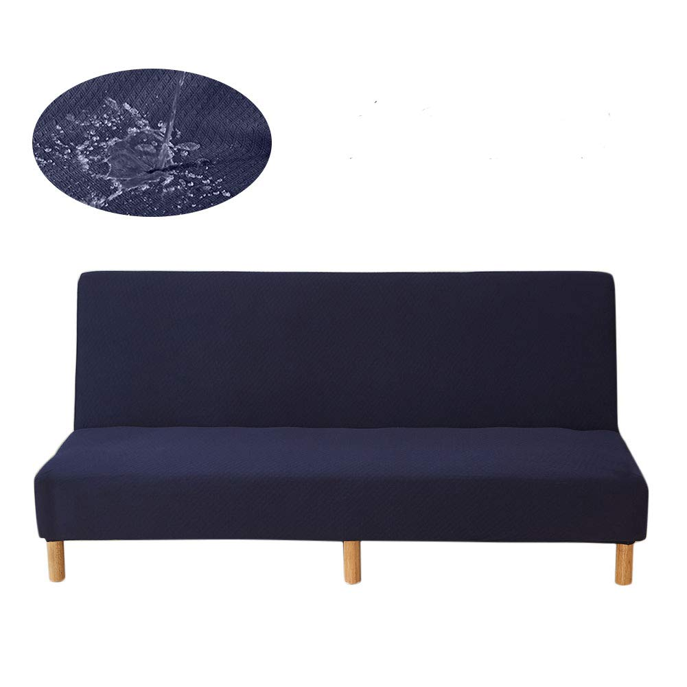 Waterproof Anti-Scratch Sofa Cover Elastic Futon Cover Sofa Slipcover Protector for Armless Three-seat Sofa