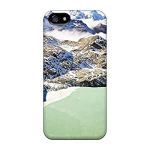 Fashionable Style Case Cover Skin For Iphone 5/5s- Wonderful Mountain Green Lake