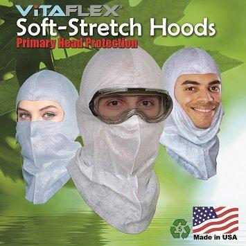 Powder Coating GSP Spary Soft-stretch Painter's Hood Spray Sock Ninja Hood $2.15 Ea, 6 Per Pack by VitaFlex Soft-stretch Hood (Image #1)