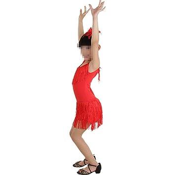 Peng sounded Traje de Baile de niña Trajes borlas Vestido de Borla ...