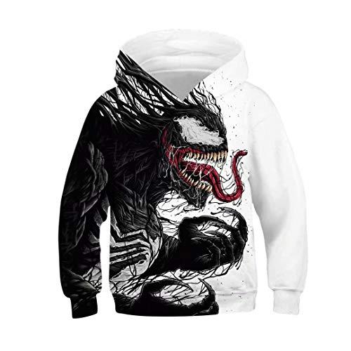 (Tsyllyp Unisex Boys Girls Venom 3D Print Graphic Sweatshirts Kids Hoodies)