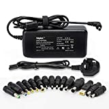 Sunydeal 90W Universal AC to DC 15V 24V Adapter Laptop Power Charger Supply Replacement for HP DELL ASUS SAMSUNG Most Compatible Laptop Model (15 Tips)
