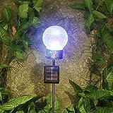 Kaixoxin Garden Solar Lights Outdoor Metal Cactus